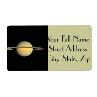 Saturn durante equinoccio etiqueta de envío