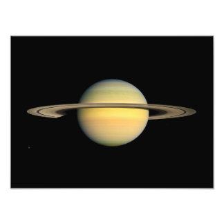Saturn durante equinoccio fotografías