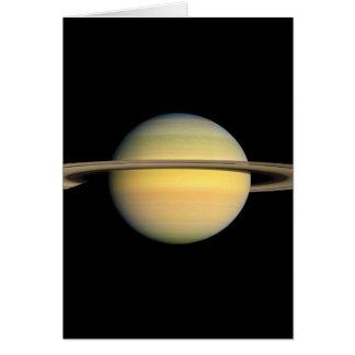 Saturn durante equinoccio tarjeta de felicitación
