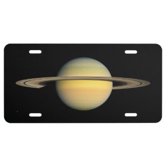 Saturn during Equinox License Plate