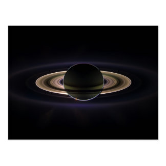 Saturn Eclipse Postcard