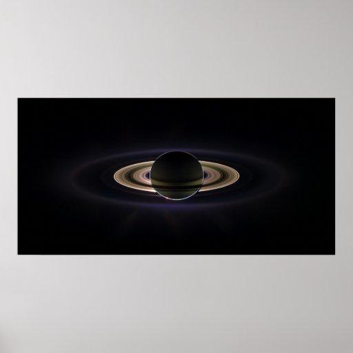 Saturn Eclipse Poster