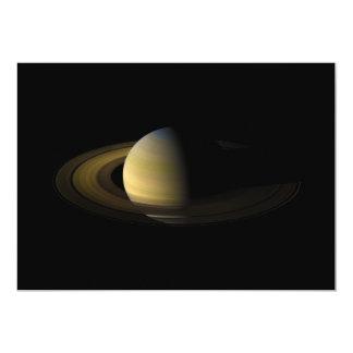 """Saturn el sexto planeta del Sun Invitación 5"""" X 7"""""""