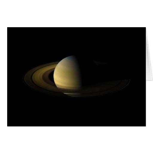 Saturn el sexto planeta del Sun Tarjeta De Felicitación