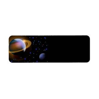 Saturn Etiquetas De Remite