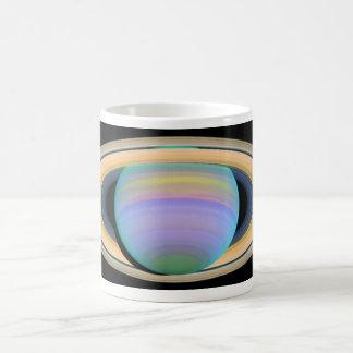 Saturn (false color) coffee mug