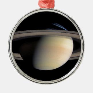 Saturn from Cassini To orbit Metal Ornament