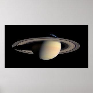 Saturn from Cassini To orbit Poster