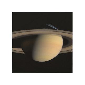 Saturn from Cassini To orbit Wood Wall Decor