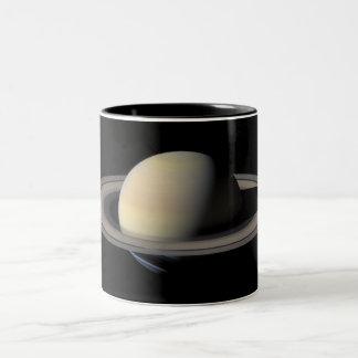 Saturn from Cassini Two-Tone Coffee Mug