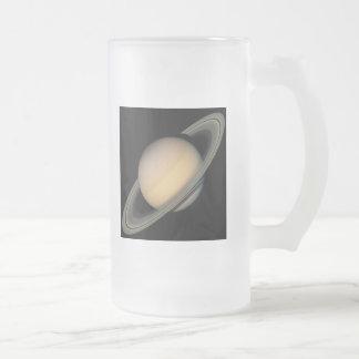 Saturn Frosted Glass Beer Mug