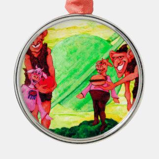 Saturn Giants Metal Ornament