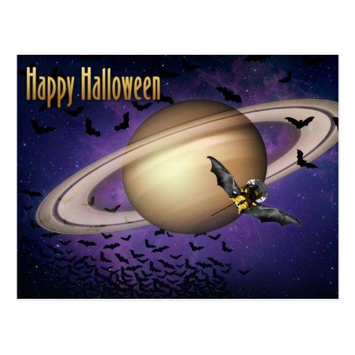 Saturn Happy Halloween Post Cards