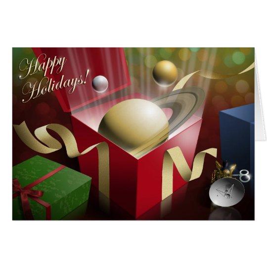 Saturn Happy Holidays Card