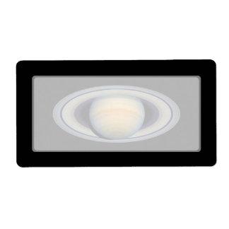 Saturn (Hubble Telescope) Label