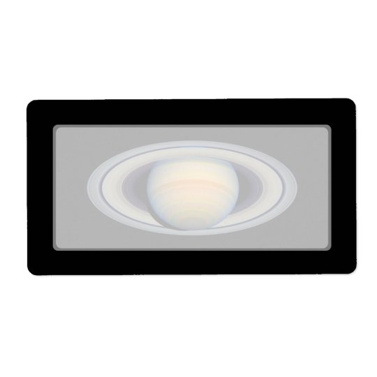 Saturn (Hubble Telescope) Label