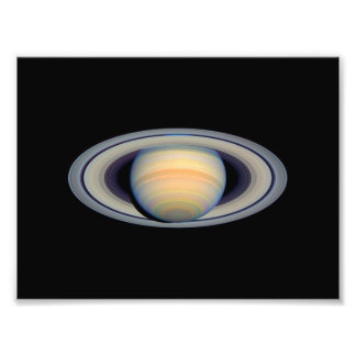 Saturn (Hubble Telescope) Photo Print