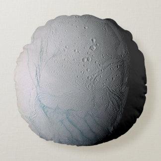 Saturn II Enceladus Round Pillow