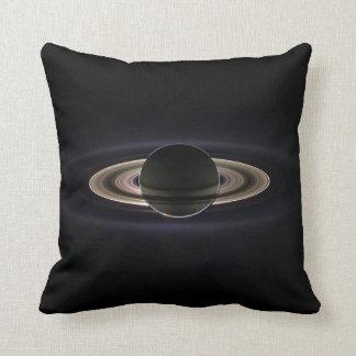 Saturn Image Taken by Cassini Spacecraft Throw Pillows