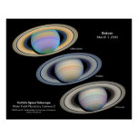 Saturn - imágenes de Hubble Poster