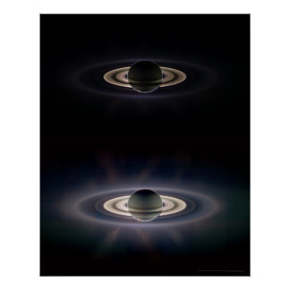 Saturn in Eclipse 16x20 (9x11) Poster