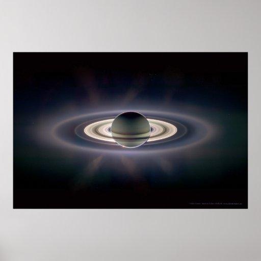 Saturn in Eclipse 18x12 (9x5) Print