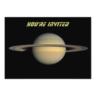 """Saturn Invitación 5"""" X 7"""""""
