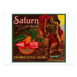 Saturn LabelUpland anaranjado, CA Postales