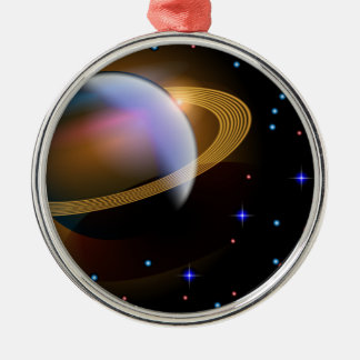 Saturn Metal Ornament