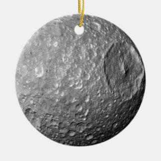 Saturn Moon Mimas Ceramic Ornament