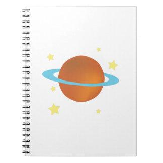 Saturn Spiral Note Book