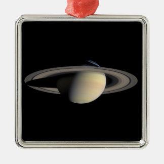 Saturn Square Metal Christmas Ornament