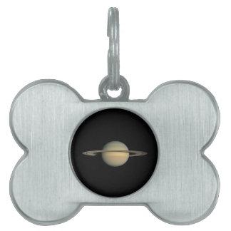 Saturn Pet Name Tag