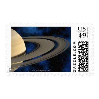 Saturn planet 2 postage stamp