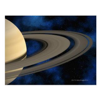 Saturn planet 2 postcard