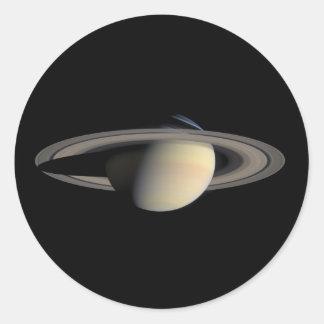 Saturn Planet beautiful rings NASA Classic Round Sticker