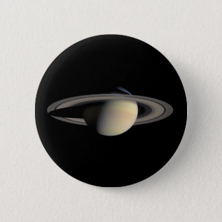 Saturn Planet beautiful rings NASA Pinback Button