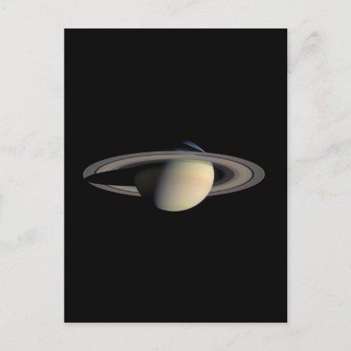 Saturn Planet beautiful rings NASA Postcard