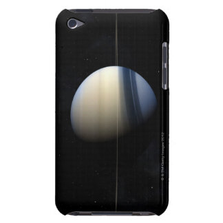 Saturn planet in solar system, close-up 2 barely there iPod case
