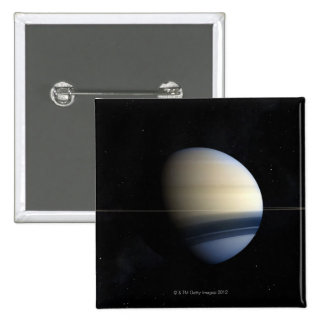 Saturn planet in solar system, close-up 2 2 inch square button