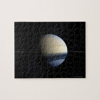 Saturn planet in solar system, close-up 2 jigsaw puzzle
