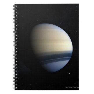 Saturn planet in solar system, close-up 2 notebook