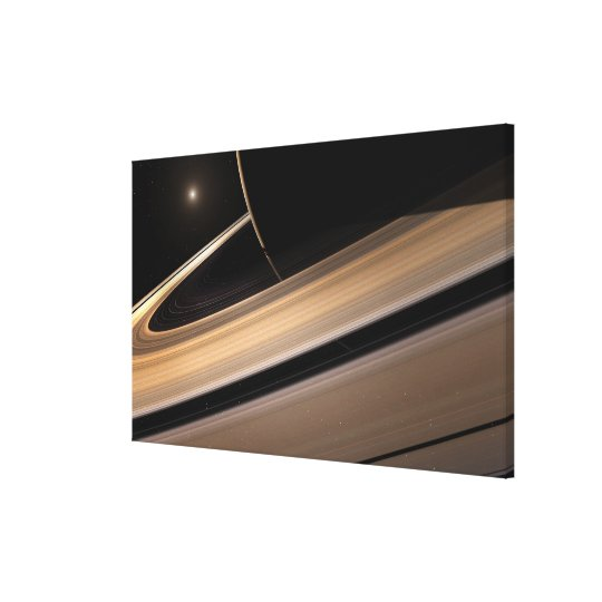 Saturn planet in solar system, close-up 3 canvas print