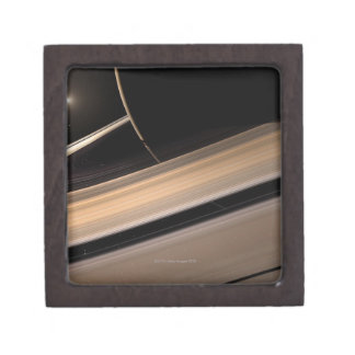 Saturn planet in solar system, close-up 3 gift box