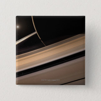 Saturn planet in solar system, close-up 3 pinback button