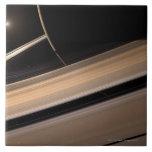 Saturn planet in solar system, close-up 3 ceramic tiles