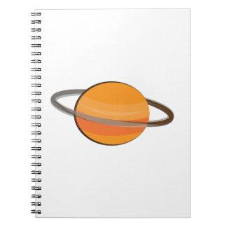Saturn Planet Spiral Notebook