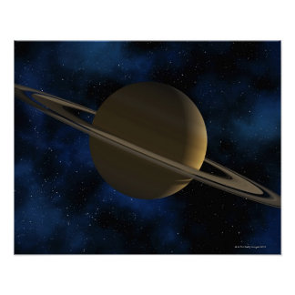 Saturn planet poster