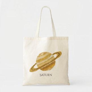 Saturn Planet Watercolor Tote