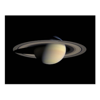 Saturn planet with rings around it post cards